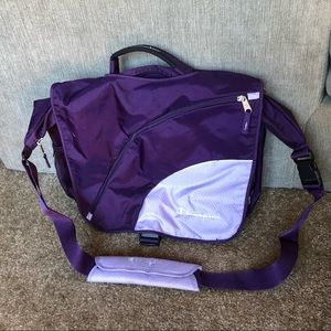 Champion Purple Messenger Bag w/ Laptop Pocket